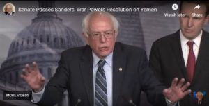 VT Senator Sanders Statement after Senate Passes Yemen War Powers Resolution