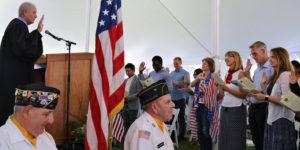 July 4th annual Naturalization Ceremony at Plymouth Notch