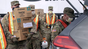 Coronavirus Pandemic – VT National Guard Distributes Food to Berlin Vermonters